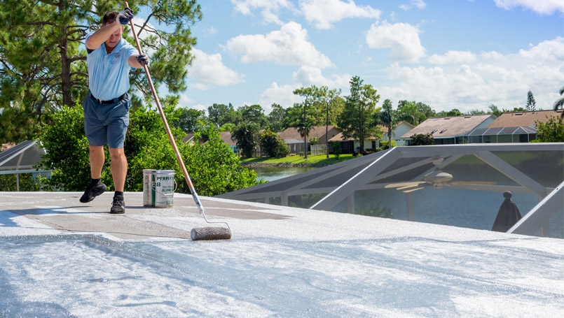 Flat Roof Top Home Project | Gulf Coast Roofing | Naples, Florida