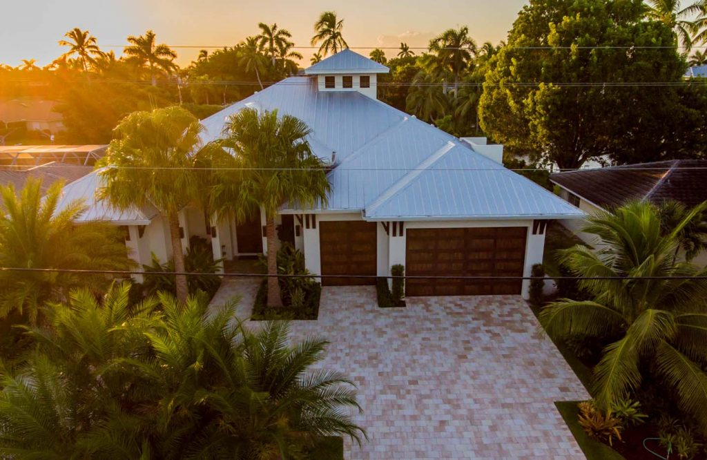 Elegant Metal Roof Top Front View Of Home Project | Gulf Coast Roofing | Naples,  Florida