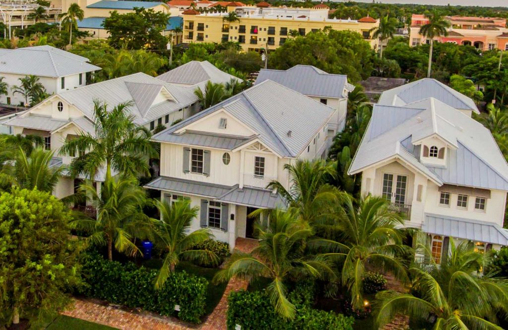 Metal Roof Top Front View Of Home Project | Gulf Coast Roofing | Naples,  Florida
